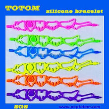 POP silicone rubber college team bracelets