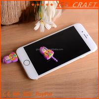 2015 Customized embossed fashion promotional cute phone dust plug
