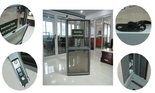 Single Hung Window Lock Spacer : High quality aluminum alloy frameless single hung windows