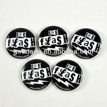 2012 popular promotion gift tinplate badge button fashionable design Customised tinplate badge