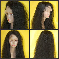 Natural looking afro kinky human hair wig,wigs for african americans