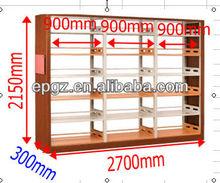 Moderna biblioteca estantería, madera& de metal muebles de bibliotecla, la biblioteca bookrack