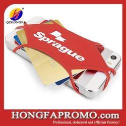 Promotional silicone phone holder for card holder