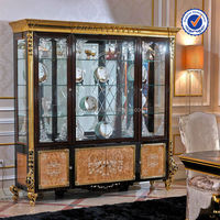 0061 High end solid wood home furniture showcase Foshan luxury dining room furniture