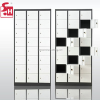 Metal hotel cabinet 24 compartments storage locker