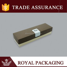 Long size paper craft packaging box with thanking mark for ink pen gift jewelry ring and watch packaging