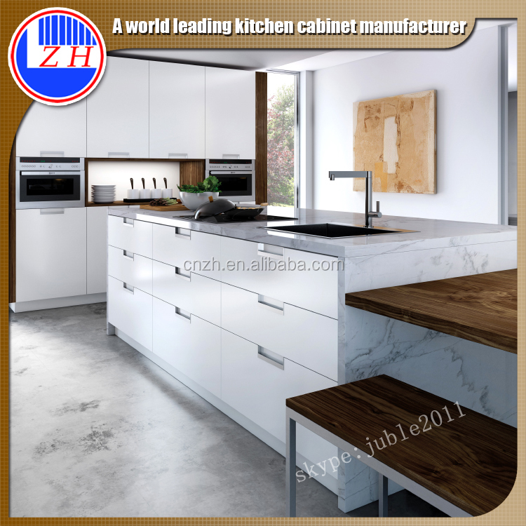 Modular Kitchen Cabinet Designs With High Gloss Door, View