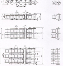 Short pitch transmission precision roller chains (B series)
