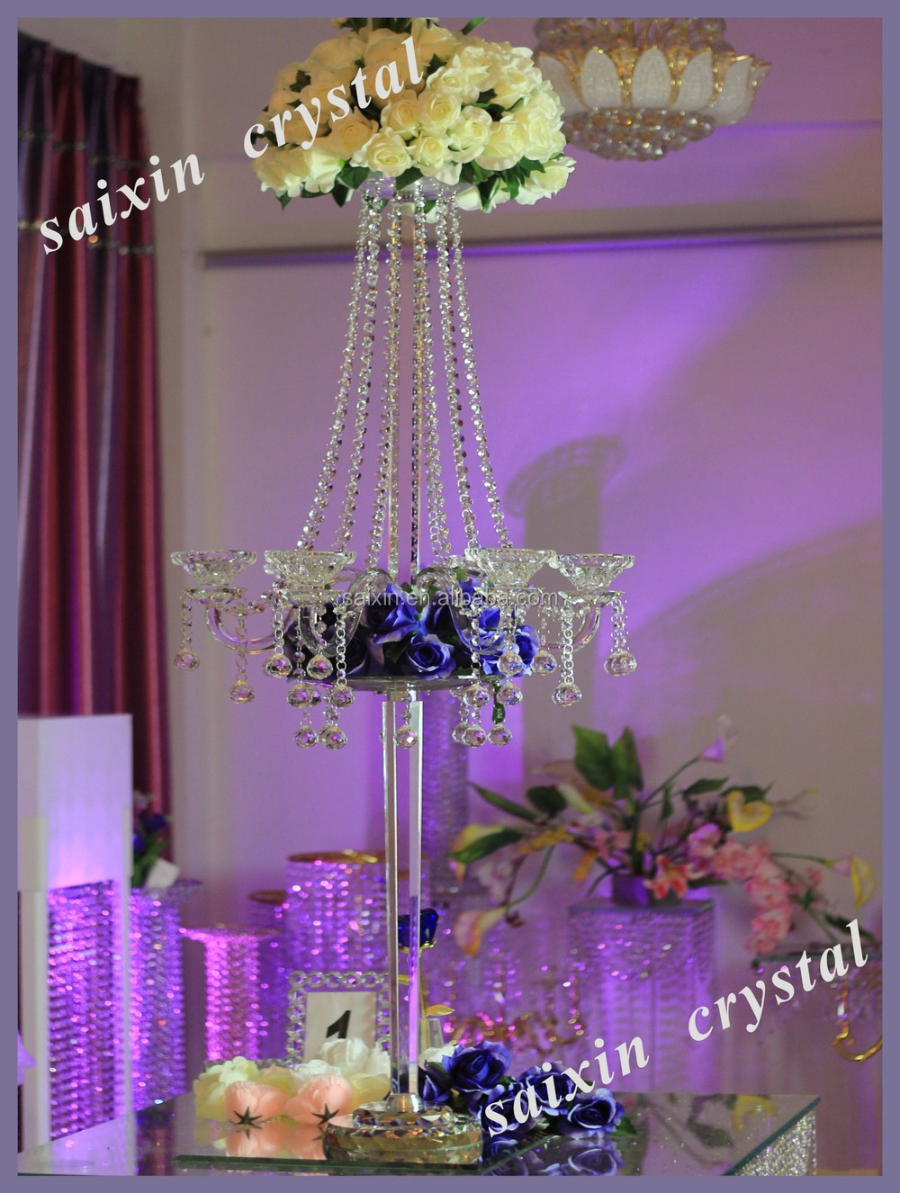 New Beautiful Crystal Wedding Decoration Centerpieces View