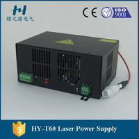 factory deliver co2 laser power supply for 60w glass tube