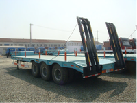 Low bed Semi Trailer with 3 axles used for transport excavator