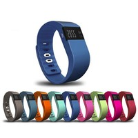 0.49 Inch OLED Screen Sport Health Care TW65 Wristband Silicone Wristband Watch