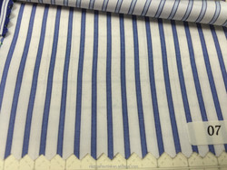 Summer Sky Blue and White Stripe Cotton Fabric