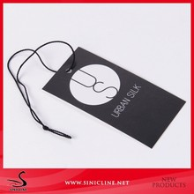 Fashion clothing brand paper labels paper hang tags printing