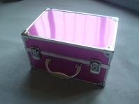 China aluminum cases for cosmetic,customized handle cosmetic case