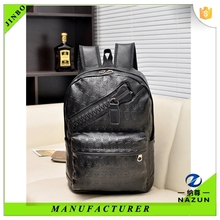 custom laptop leather embossed backpack for hiking