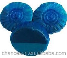 blue round rim toilet cistern block