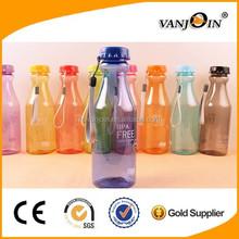 Bowling Shape 550ml Transparent Plastic Soda Bottles Sports Sealed Bottles