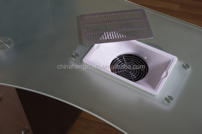 Supply Grass Nail Table With Fan For Beauty Salon / Nail Table With ...