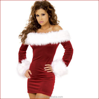 Adult sexy costumes Christmas dresses off the shoulder clothing for women