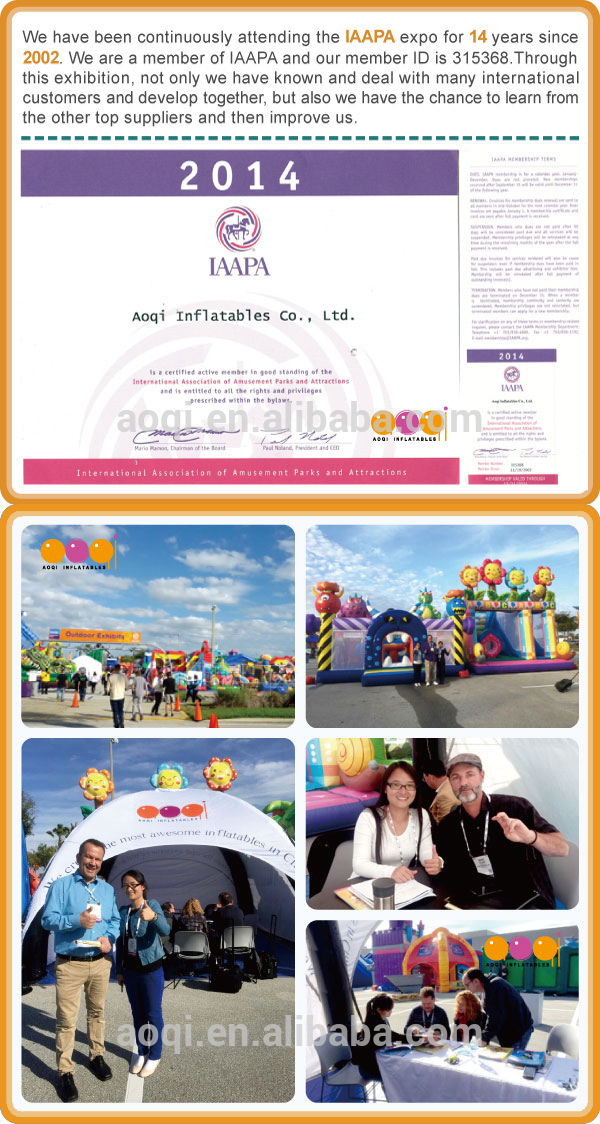 We have been continuously attending the IAAPA expo for 14 years since 2002.We are a member of IAAPA and our member ID is 315368.Through this exhibition,not only we have known and deal with many international customers and develop together,but also we have the chance to learn from the other top suppliers and then improve us.