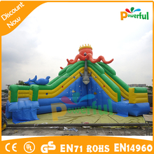giant pool inflatable octopus theme inflatable slide for sale