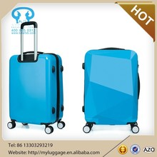 3pcs set hard shell luggage, stock abs trolley suitcase with factory price