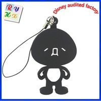 Promotional gifts keychain, cute Japanese doll pvc custom keychain