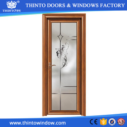 Factory made best quality hot sale aluminum frame glass door price