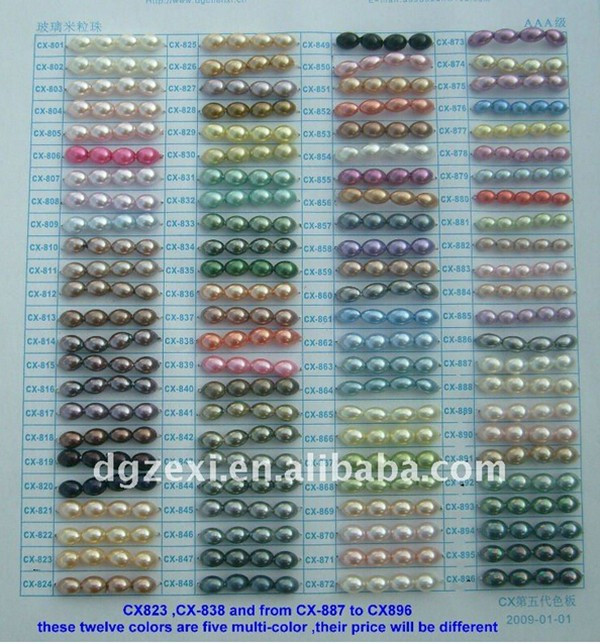 glass rice color chart 600