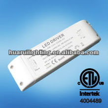 ETL/UL listed Dimmable 12V 24V led driver constant voltage 10w 26w 48w