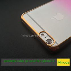 MIROOS high quality scratch resistant gradient eco friendly pc color change case for iphone 6