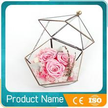 wholesale preserved rose flower in glass vase