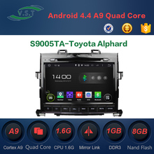 Android 4.4 Quad-Core Car Dvd Radio With Gps Navi for Toyota Alphard supports RDS,OBD,Mirror Link,AUX IN,3G, WIFI Dongle
