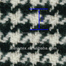 Fashionable design herringbone wool fabric with black and white color