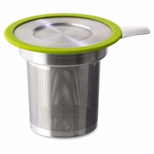 Factory low price stainless steel silicone leaf tea infuser