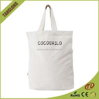 Eco friendly reusable white canvas shopping bag, canvas shopping bag blank