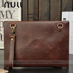 Vintage Crazy Horse PU Leather Clutch Envelope Bag for Men