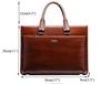 Fashion multipurpose custom printed business men tote leather bag