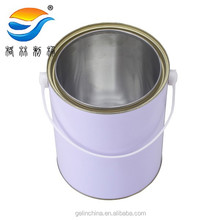 5L empty paint container, metal pail for paint, tin can for paint