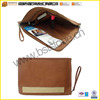 Zip Around Envelope Leather Briefcase Portfolio
