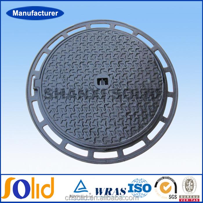 E600 F900 EN124 круглый 700 мм эпоксидные покрытия тяжелых чугунных крышек люков и рамки