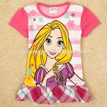( h4981) niños lindo vestido de venta caliente de alta calidad de dibujos animados de verano de la flor vestidos de niños