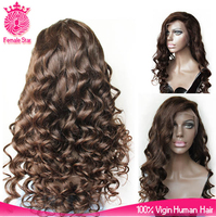 fast shipping dark brown body wave elastic bands for full lace human hair wigs