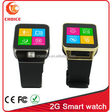 gift item 2015 sim card watch mobile phone made in China