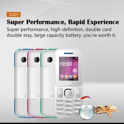 D201 1.8 inch Quad Band Chinese Dual Sim Card Mini Mobile Phone