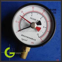 miniature 316 stainless steel oil filled digital water pressure gauge