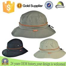 Custom 100% nylon UV Protection Bucket Hat with Drawstring