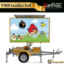 New products 2015 remote control led screen trailer mobile truck/trailer/car moving advertising led display for sale