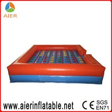 2016 interactive giant inflatable twister game for adults and kids